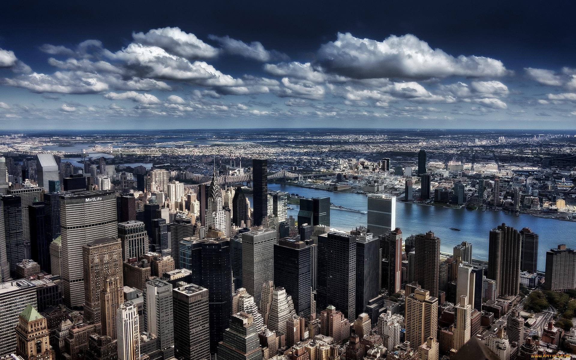 Обои горизонт, здание, new york, небоскребы. Города foto 17